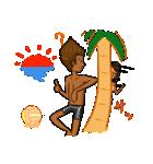 日焼けしたビーチバレーカップル(個別スタンプ:07)