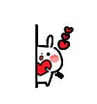 でか文字・LOVE♡うさぎ(個別スタンプ:38)