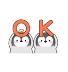 動く!ペンギンきょうだい(個別スタンプ:01)