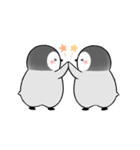 動く!ペンギンきょうだい(個別スタンプ:02)
