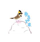 動く日本の野鳥 秋冬(個別スタンプ:13)