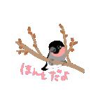 動く日本の野鳥 秋冬(個別スタンプ:15)