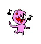 ドットキャラクターズ ピンクシャドー 2(個別スタンプ:2)