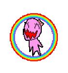 ドットキャラクターズ ピンクシャドー 2(個別スタンプ:4)