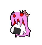 ドットキャラクターズ ピンクシャドー 2(個別スタンプ:6)
