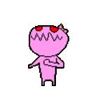 ドットキャラクターズ ピンクシャドー 2(個別スタンプ:34)