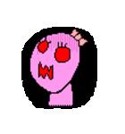 ドットキャラクターズ ピンクシャドー 2(個別スタンプ:40)