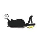 黒猫武士(個別スタンプ:23)