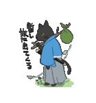 黒猫武士(個別スタンプ:24)