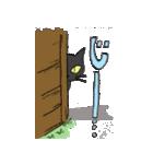 黒猫武士(個別スタンプ:26)