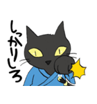 黒猫武士(個別スタンプ:31)