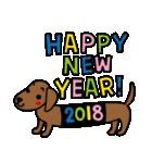 2018年賀スタンプ【戌年】(個別スタンプ:09)