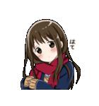 無口ぎみなマフラー女子高生2(個別スタンプ:01)