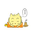 幸せな黄色い奇跡のネコ(個別スタンプ:12)