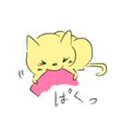 幸せな黄色い奇跡のネコ(個別スタンプ:16)
