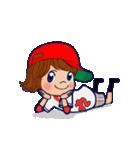 動く!頭文字「れ」女子専用/100%広島女子(個別スタンプ:5)