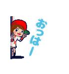 動く!頭文字「れ」女子専用/100%広島女子(個別スタンプ:13)
