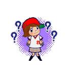 動く!頭文字「れ」女子専用/100%広島女子(個別スタンプ:15)