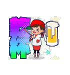 動く!頭文字「タ」女子専用/100%広島女子(個別スタンプ:16)