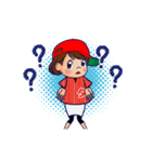 動く!頭文字「タ」女子専用/100%広島女子(個別スタンプ:23)