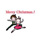 可愛く踊るバレリーナ~クリスマス編~(個別スタンプ:09)
