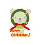 クリスマスリースアニマルズ(個別スタンプ:1)