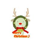 クリスマスリースアニマルズ(個別スタンプ:2)