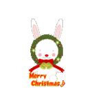 クリスマスリースアニマルズ(個別スタンプ:3)