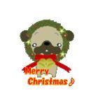 クリスマスリースアニマルズ(個別スタンプ:4)