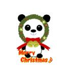 クリスマスリースアニマルズ(個別スタンプ:5)