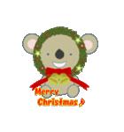 クリスマスリースアニマルズ(個別スタンプ:6)