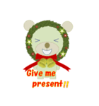 クリスマスリースアニマルズ(個別スタンプ:7)