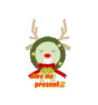 クリスマスリースアニマルズ(個別スタンプ:8)