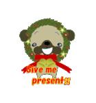 クリスマスリースアニマルズ(個別スタンプ:10)
