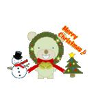クリスマスリースアニマルズ(個別スタンプ:14)