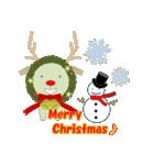 クリスマスリースアニマルズ(個別スタンプ:15)