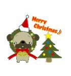 クリスマスリースアニマルズ(個別スタンプ:17)