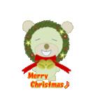 クリスマスリースアニマルズ(個別スタンプ:22)