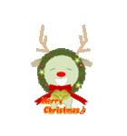 クリスマスリースアニマルズ(個別スタンプ:23)