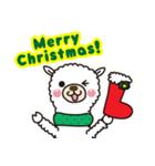 アルパカさんのクリスマスパーティー(個別スタンプ:02)