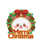 パンダさんのクリスマス&お正月(個別スタンプ:01)