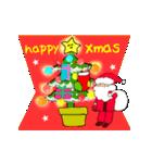 動く!サンタクロース&あけおめ(正月)(個別スタンプ:04)