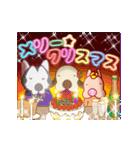 キラキラ光る!クリスマスな犬(個別スタンプ:01)