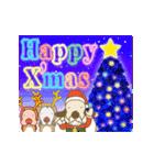 キラキラ光る!クリスマスな犬(個別スタンプ:02)