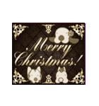 キラキラ光る!クリスマスな犬(個別スタンプ:05)
