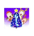 キラキラ光る!クリスマスな犬(個別スタンプ:08)
