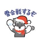 【雪合戦】シュナのつな子 11 冬編(個別スタンプ:01)