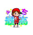 動く!頭文字「ワ」女子専用/100%広島女子(個別スタンプ:2)