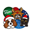ラブとすてきなクリスマス(キャバリア)(個別スタンプ:02)