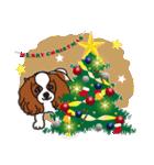 ラブとすてきなクリスマス(キャバリア)(個別スタンプ:04)